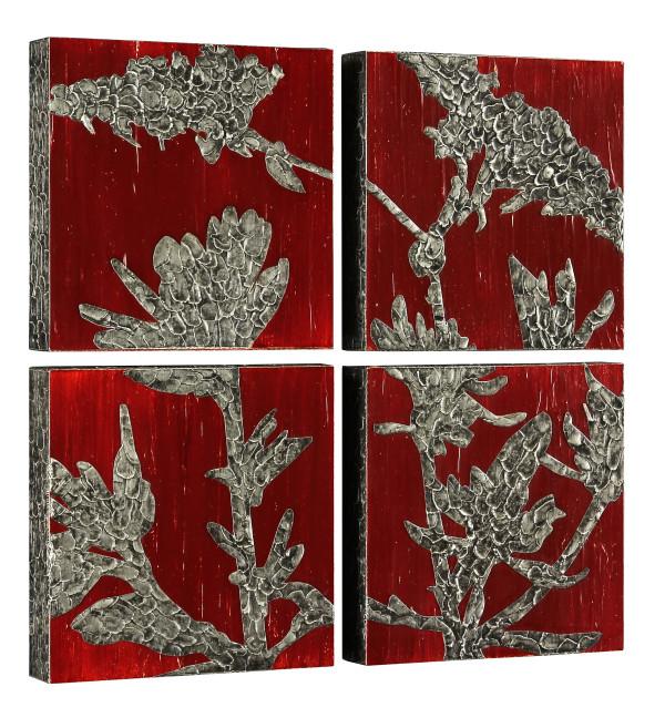 Autumn Buckwheat (4 panels) by Sawyer Rose