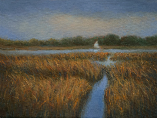 Small Boat on the Great Marsh by Katherine Kean