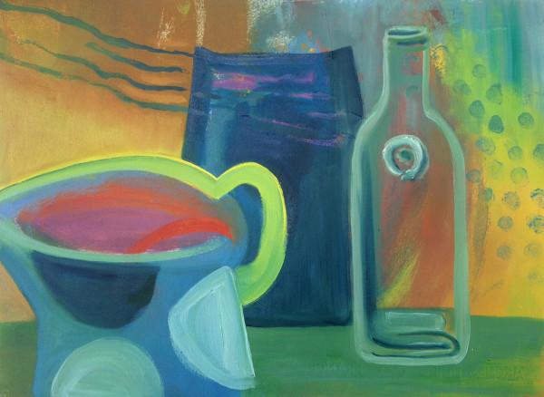 Blue Spot Jug by Jill Ogilvy