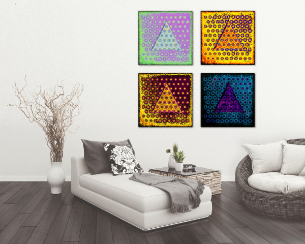 Four Seasons - Set of Four Abstract Pieces by Barbara Storey