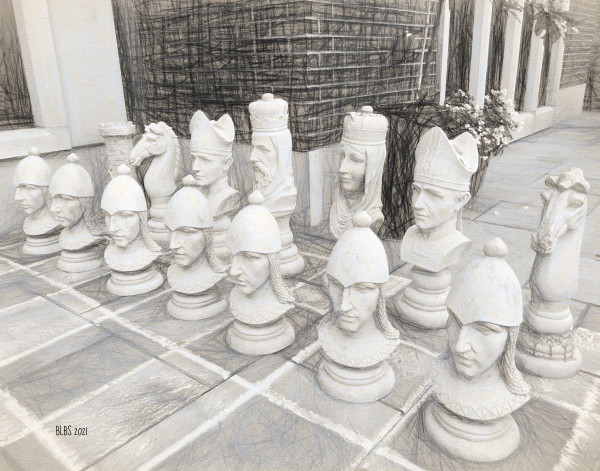 Giant Chess Set, Number Two by Barbara Storey