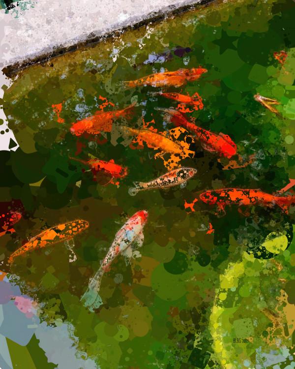 Koi Pond Zen by Barbara Storey