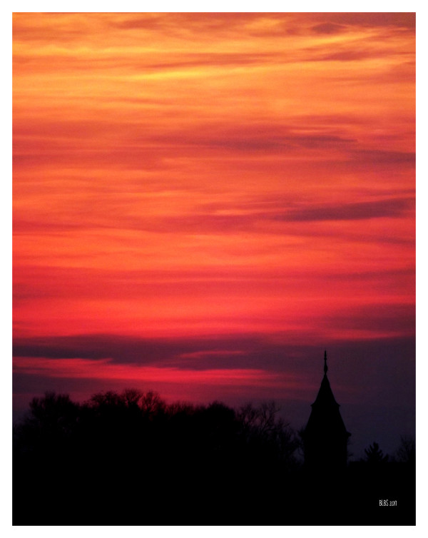 Sunset Over Stratford by Barbara Storey
