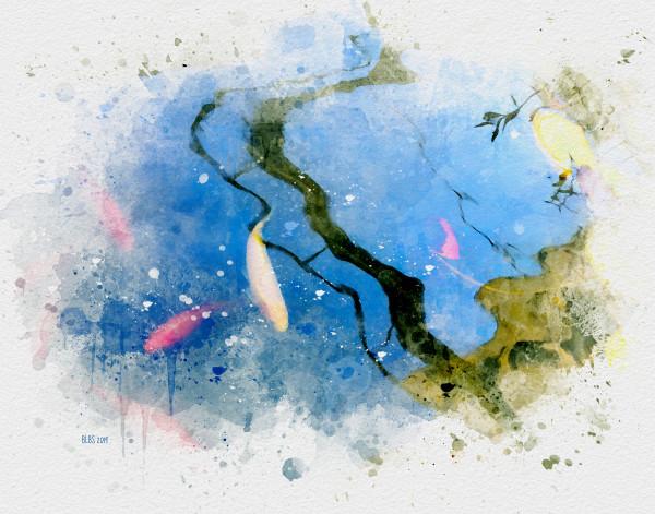 Watercolour Koi by Barbara Storey
