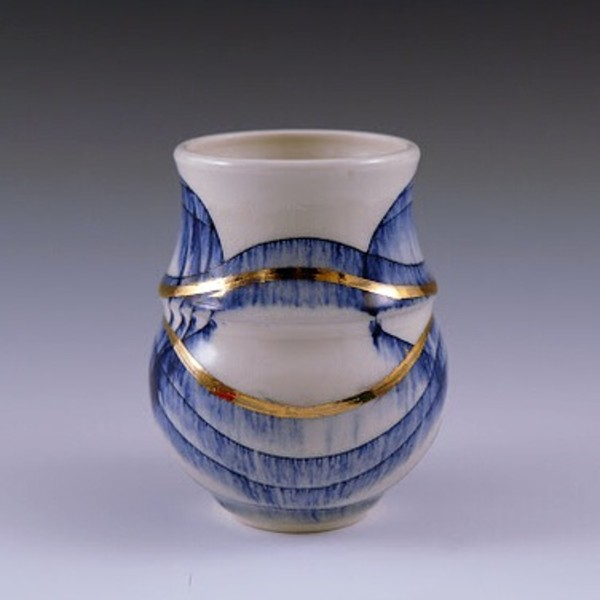 Cobalt Tea Bowl II by Katie Carey