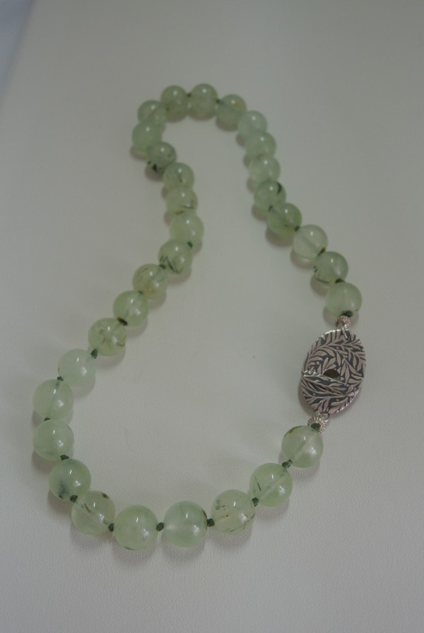 Phrenite Beaded (12 mm) Necklace  by Hollis Bauer
