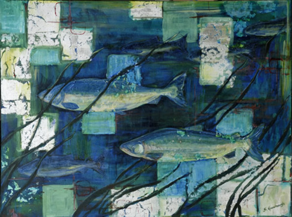 Salmon in Seagrass by Sarah Goodnough