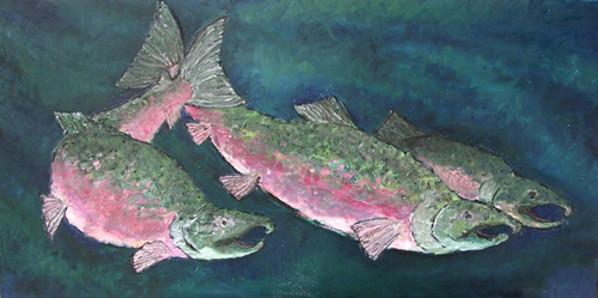 Three Coho by Sarah Goodnough