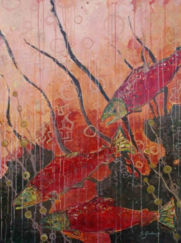 New Beginnings (Salmon) by Sarah Goodnough