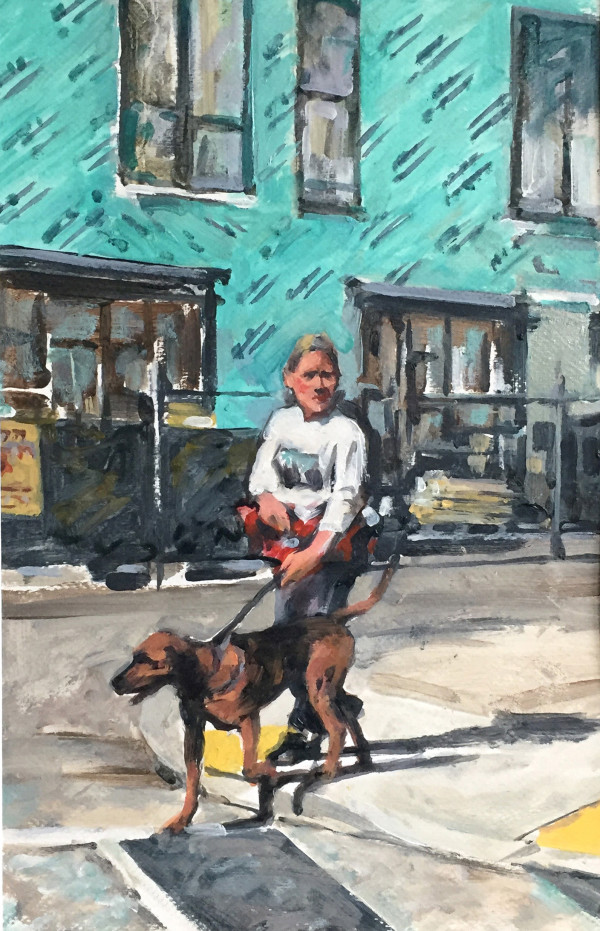 Crossing with Dog by Dennis Anderson