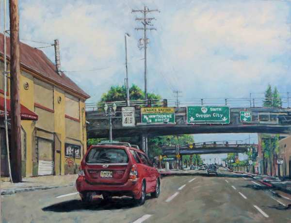 Hawthorne Underpass by Dennis Anderson