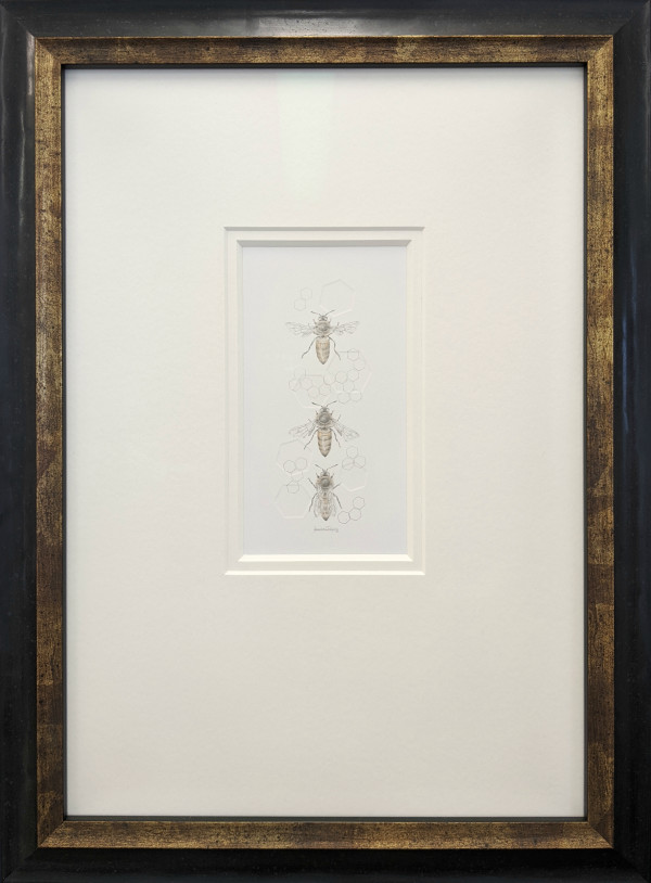 Honey Bee 3.23e by Louisa Crispin