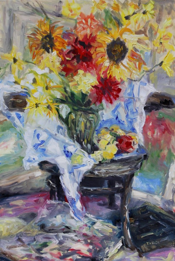 August Still Life with Cezanne and Matisse by Terrill Welch