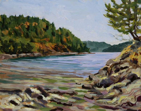 August midday at Piggott Bay by Terrill Welch