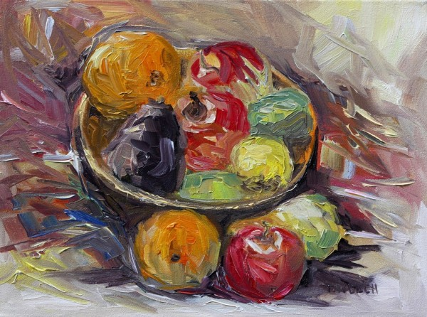 Bowl of Winter Fruit by Terrill Welch