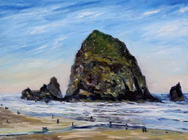 Cannon Beach Oregon Morning by Terrill Welch