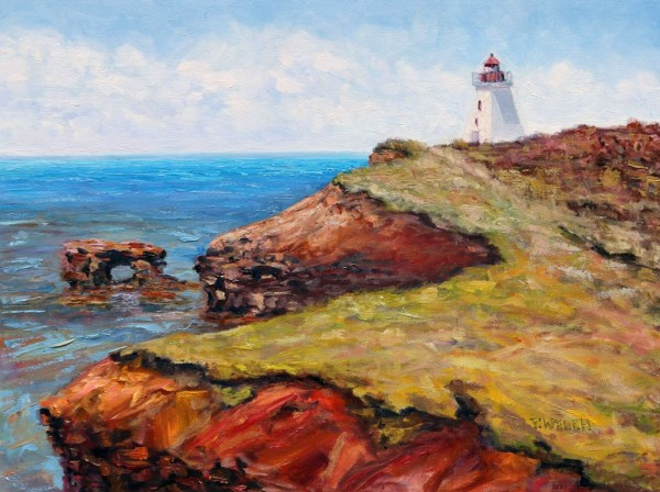 Cap Egmont Lighthouse PEI by Terrill Welch