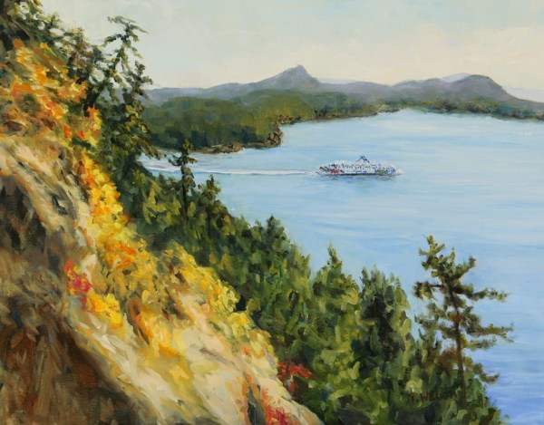 Collison Point View of Mayne Island by Terrill Welch
