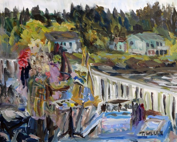 Company on the Springwater Deck by Terrill Welch