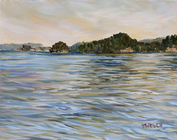 Evening at the Brickworks Dock Mayne Island BC by Terrill Welch