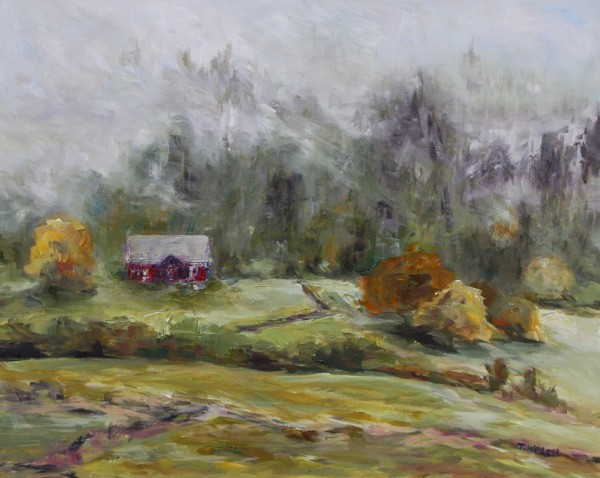 Farm in Fog by Terrill Welch