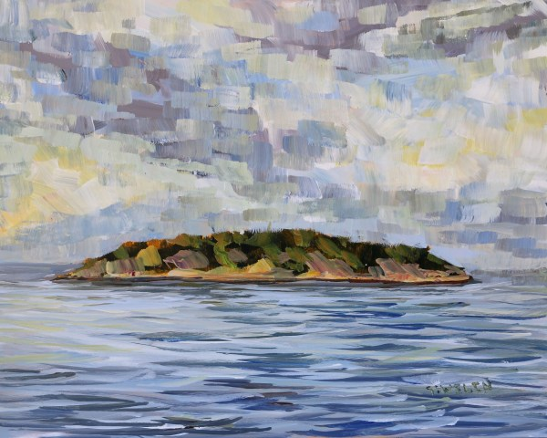 Georgeson Island In Summer Evening Light by Terrill Welch