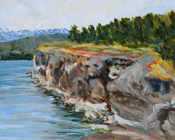 Helliwell Cliff on Hornby Island by Terrill Welch