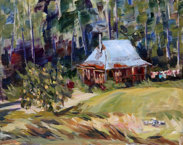 Laundry Day at the Cabin by Terrill Welch