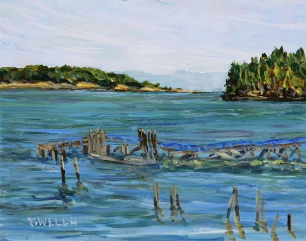 Miners Bay Mayne Island study by Terrill Welch