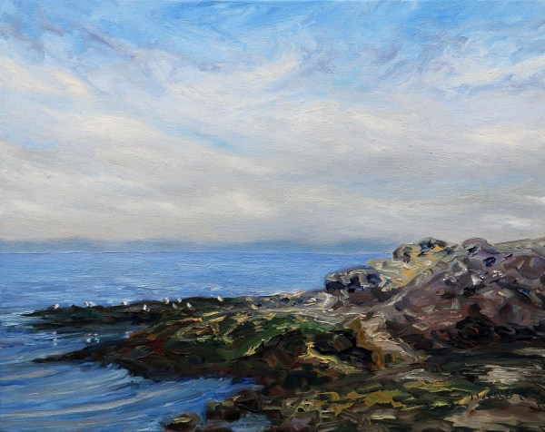 Morning Sea at Georgina Point by Terrill Welch