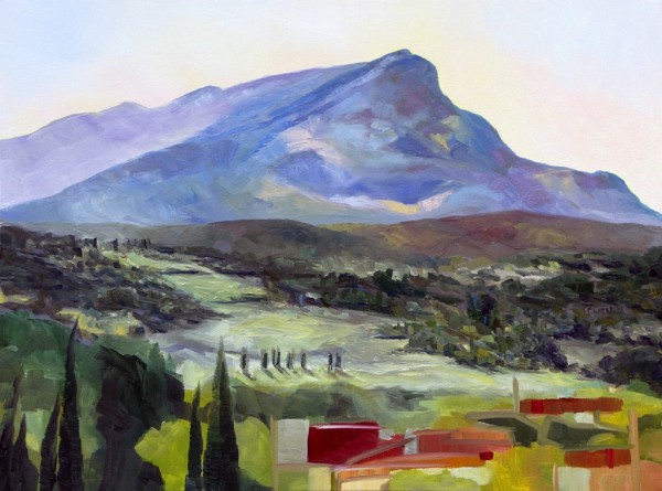 Morning with Cezanne's Mountain by Terrill Welch