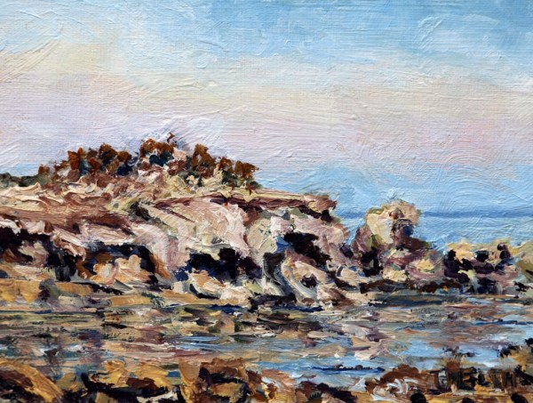 Oyster Bay Sandstone and Sea by Terrill Welch
