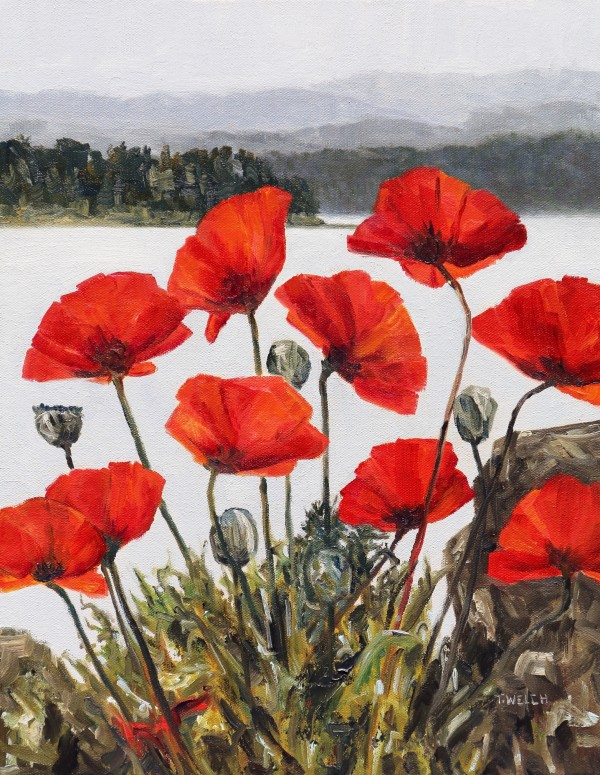 Poppies Beside The Sea Revisited by Terrill Welch