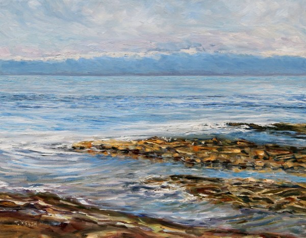 Standing with the Sea at Georgina Point by Terrill Welch