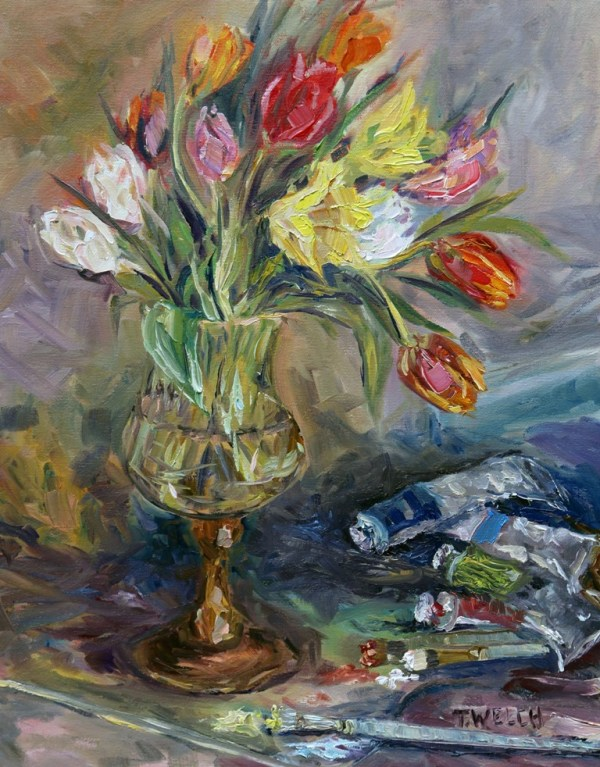 Tulips in the Studio by Terrill Welch