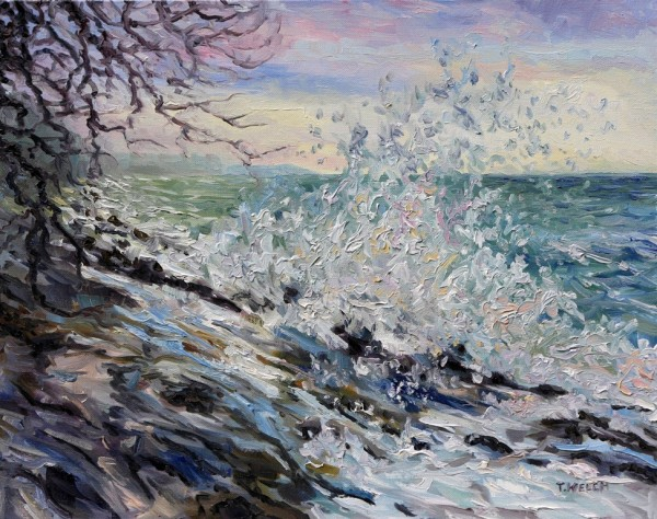 West Coast Early Evening Winter Sea by Terrill Welch
