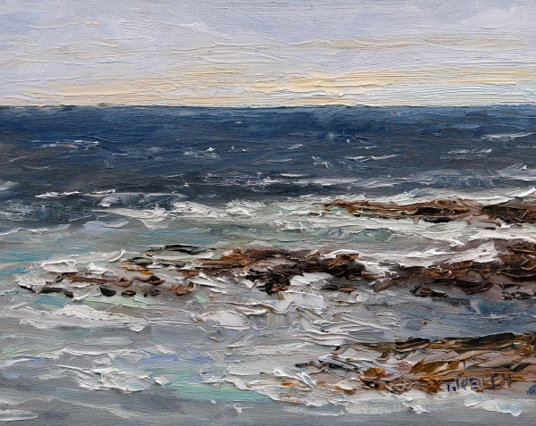 Wind Over the Sea at the Lighthouse by Terrill Welch
