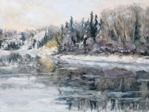 Winter Freeze Up Stuart River BC by Terrill Welch