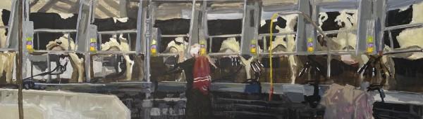 Carousel milking by Philine van der Vegte