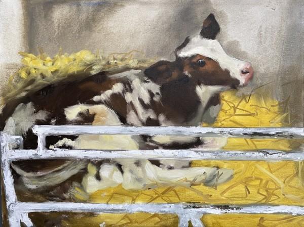 Calf study V by Philine van der Vegte