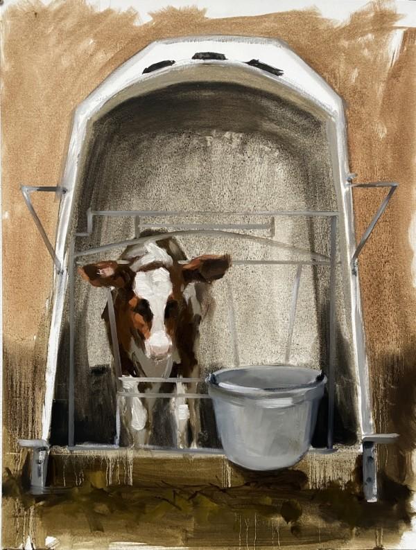Study of a calf I by Philine van der Vegte