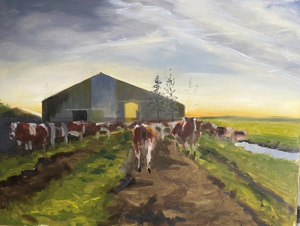Early milking by Philine van der Vegte