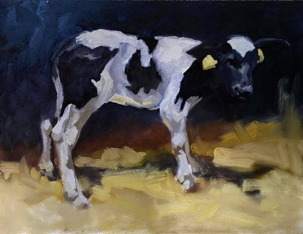 Study of a calf III by Philine van der Vegte