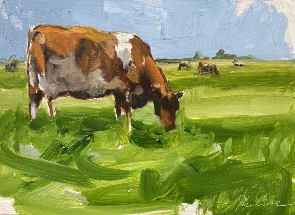 Polderlandschap by Philine van der Vegte