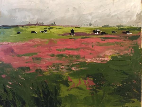 Zicht op de polder Katwoude by Philine van der Vegte