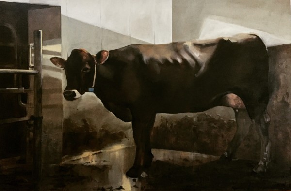 Anouk at the milking robot