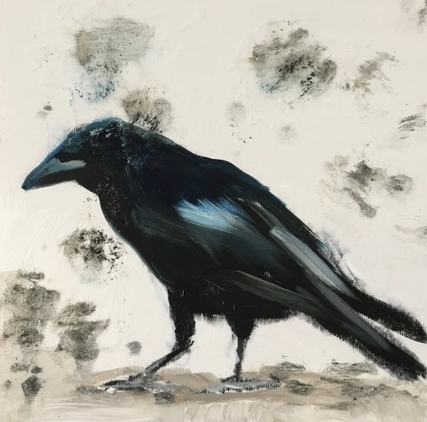 Crow in the snow by Philine van der Vegte