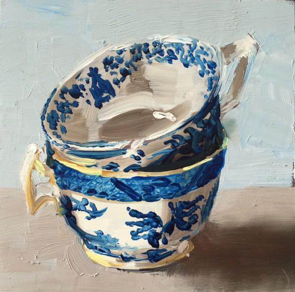 Blue cups by Philine van der Vegte