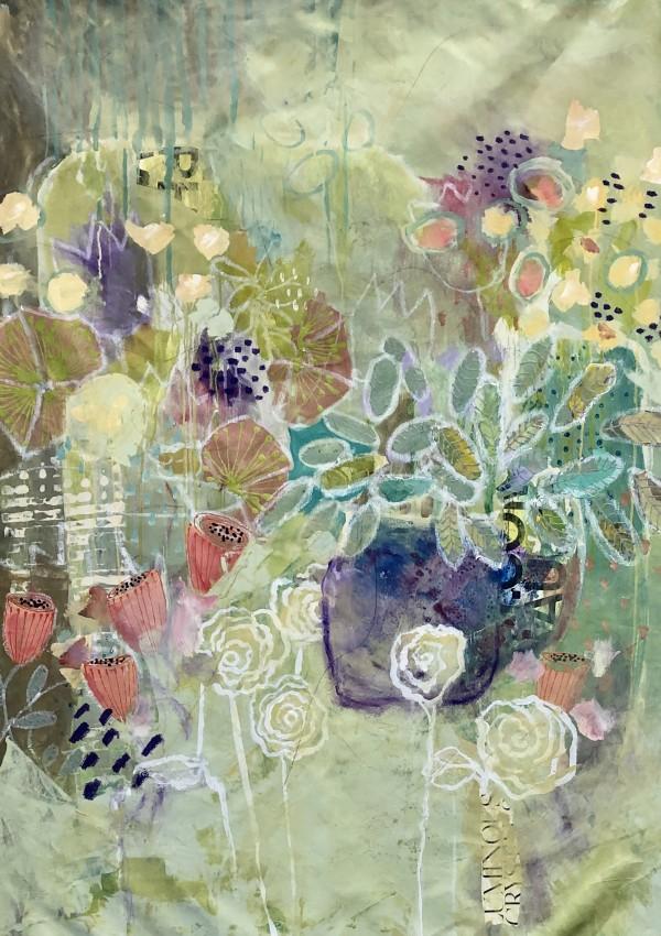 PURPLE  PLANTER by Jill Krasner
