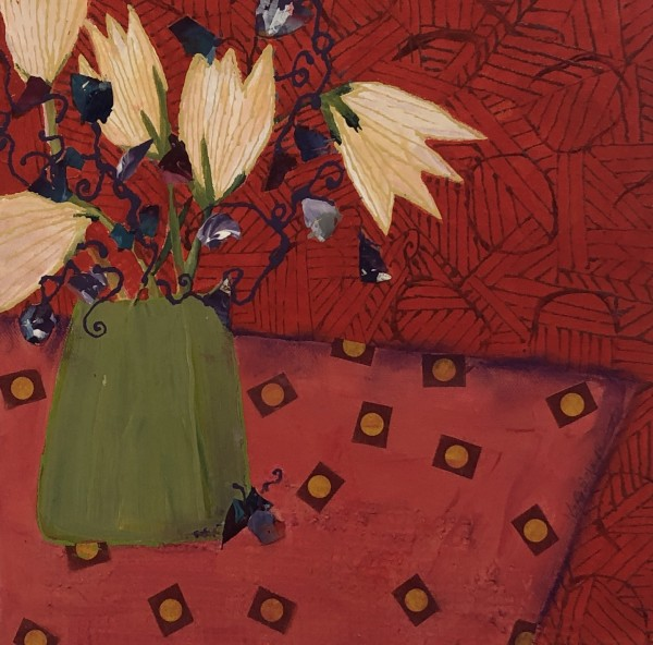 Tulips and Polka Dots by Jill Krasner